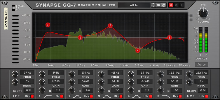 GQ-7 Graphic Equalizer - frontside