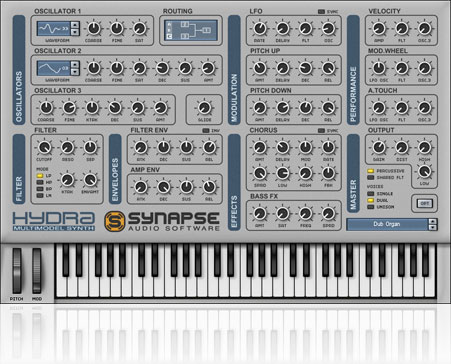 Hydra is a versatile synthesizer plugin