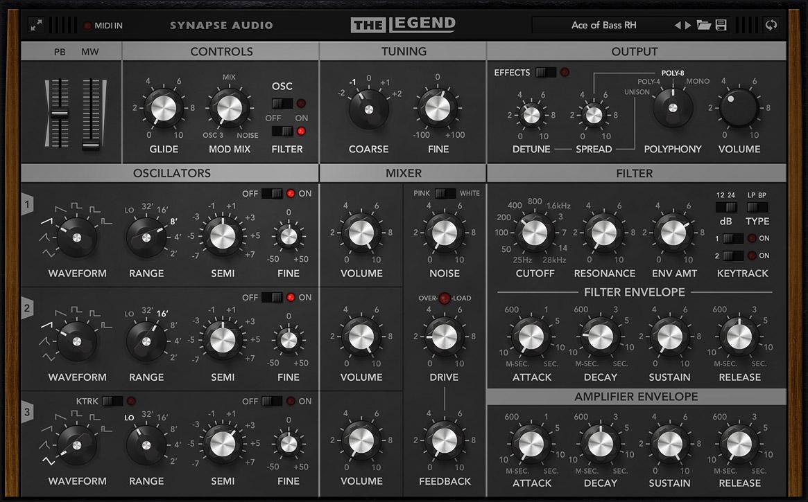 Synapse Audio Software The Legend VST/AU